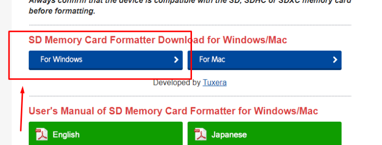 sd card formater software