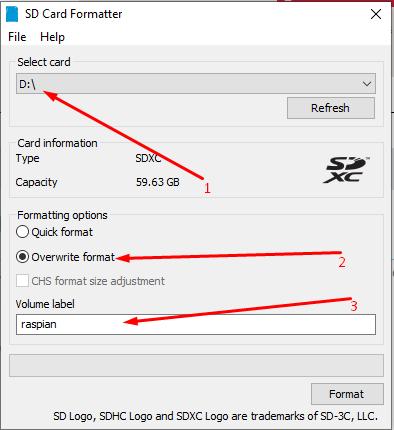sd formater herramienta